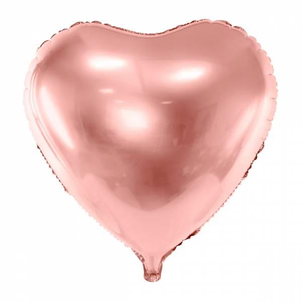 Folienballon Herz Roségold