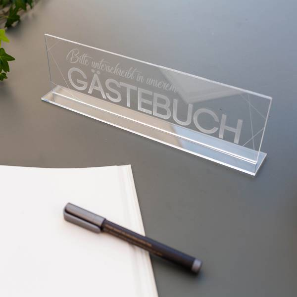 Schriftzug Acrylglas Gästebuch