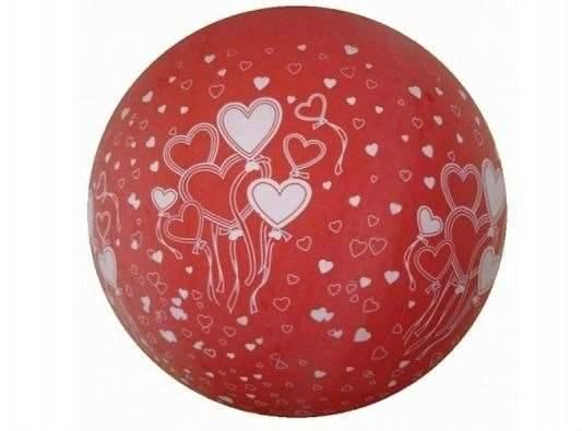 Riesen Ballon Herzen rot