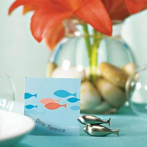 Tischkartenhalter Fische