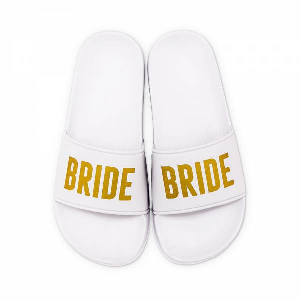 Badelatschen Braut