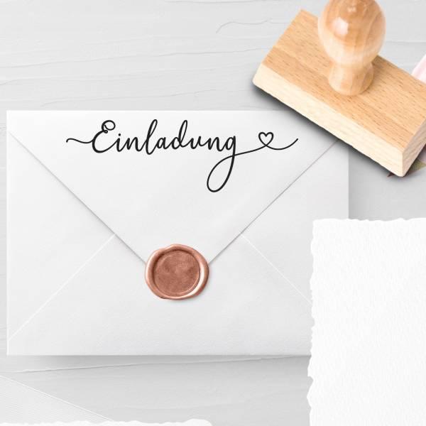 Personalisierbarer Hochzeitsstempel 'Einladung' Lysandra Nr. 12
