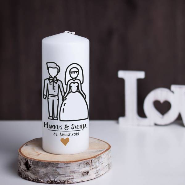 Hochzeitskerze Modern Couple