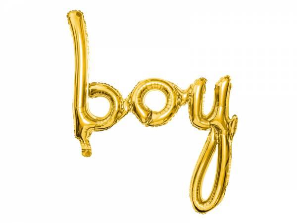 Folienballon BOY Schreibschrift