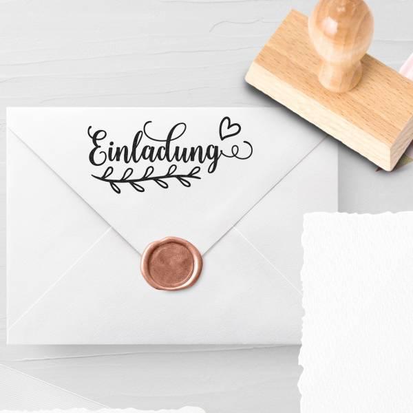 Personalisierbarer Hochzeitsstempel 'Einladung' Litsa Nr. 9