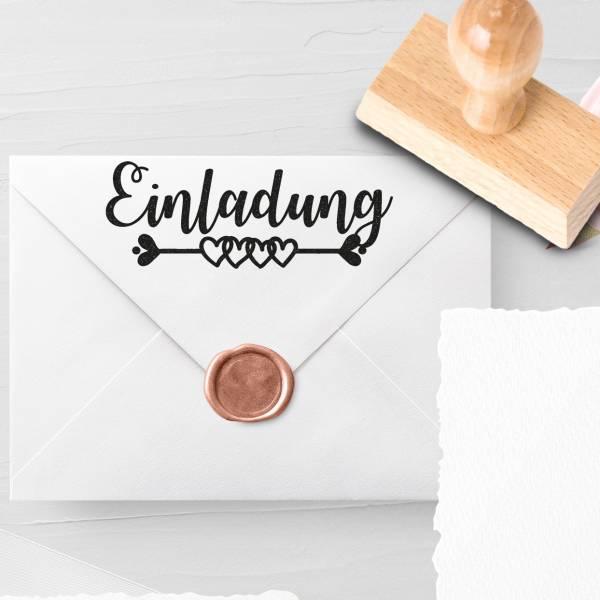 Personalisierbarer Hochzeitsstempel 'Einladung' Larissa Nr. 3