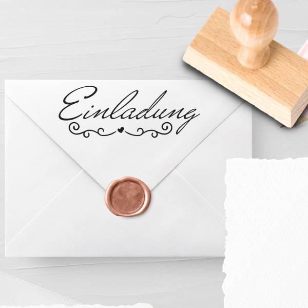 Personalisierbarer Hochzeitsstempel 'Einladung' Mariam Nr. 15