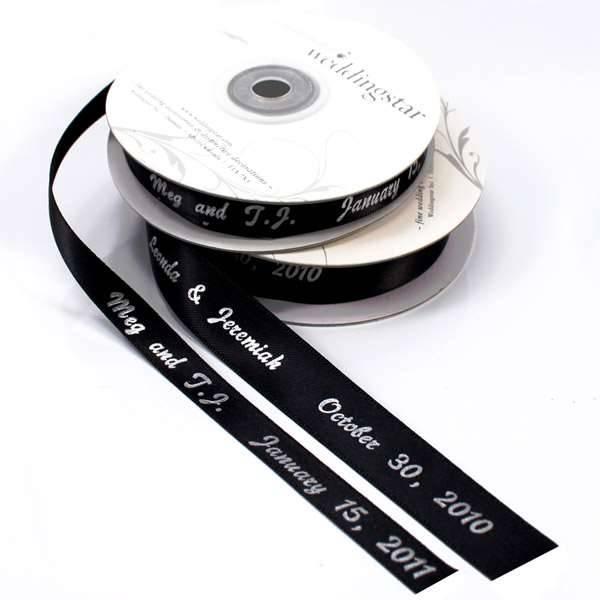 Satinband personalisierbar breit 91,4 m
