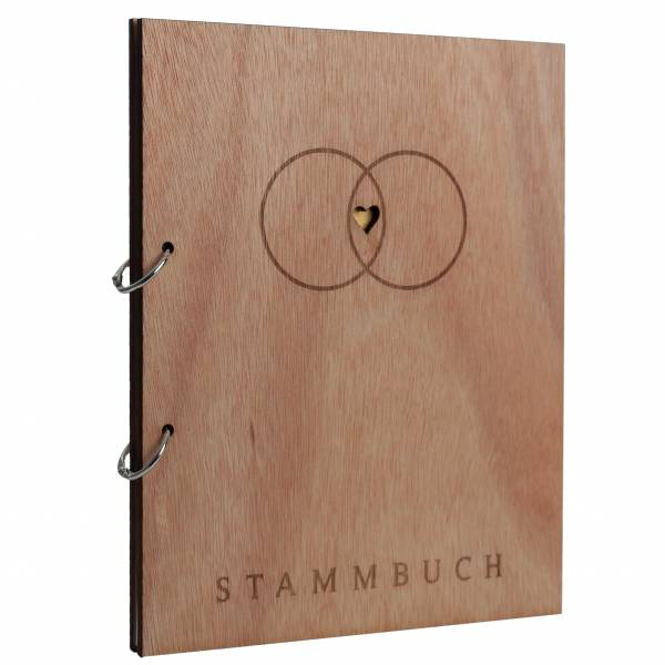 Stammbuch Holzcover Serie Alan