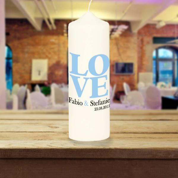 Hochzeitskerze LOVE