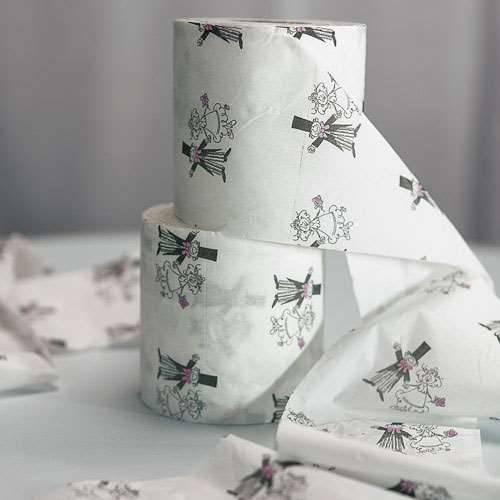 Toilettenpapier Brautpaar