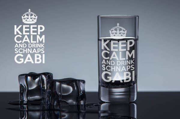 Schnapsglas Keep Calm